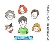 cute vector illustration draw... | Shutterstock .eps vector #647493487