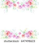 card template with watercolor... | Shutterstock . vector #647498623