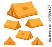 camping tent in 3d  isometric.... | Shutterstock .eps vector #647506627