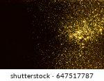 golden glitter texture... | Shutterstock . vector #647517787