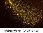 golden glitter texture... | Shutterstock . vector #647517853