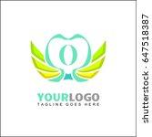 o letter brand identity for... | Shutterstock .eps vector #647518387