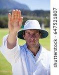 portrait of cricket umpire...   Shutterstock . vector #647521807