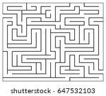 maze  labyrynth vector symbol... | Shutterstock .eps vector #647532103
