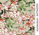watercolor seamless pattern....   Shutterstock . vector #647543593