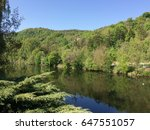 Picturesque River Valley On A...