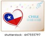 heart logo made from the flag...   Shutterstock .eps vector #647555797