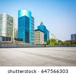 empty floor front of modern... | Shutterstock . vector #647566303