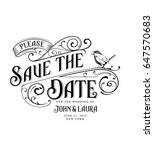 vintage save the date card with ...