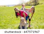 casual children cheerful cute... | Shutterstock . vector #647571967