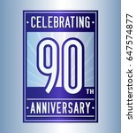 90 years anniversary design... | Shutterstock .eps vector #647574877