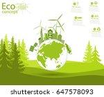 environmentally friendly world. ...   Shutterstock .eps vector #647578093