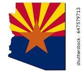 state of arizona flag inside...   Shutterstock .eps vector #647579713