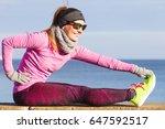Woman Athlete Girl Training...