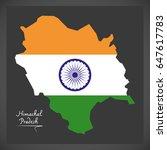himachal pradesh map with...   Shutterstock .eps vector #647617783