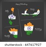 puducherry detailed maps map...   Shutterstock .eps vector #647617927