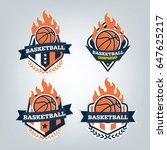 basketball sport logo design...   Shutterstock .eps vector #647625217