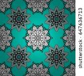 white element on blue... | Shutterstock .eps vector #647636713
