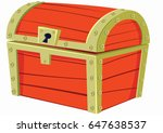 old red chest | Shutterstock .eps vector #647638537