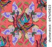 motley vector illustration.... | Shutterstock .eps vector #647640823