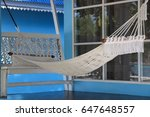 beach cradle white color front... | Shutterstock . vector #647648557