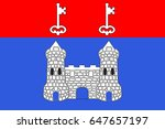 flag of chateau gontier is a...   Shutterstock .eps vector #647657197