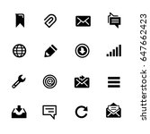 messages icons    black series  ... | Shutterstock .eps vector #647662423