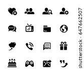 social communications icons   ... | Shutterstock .eps vector #647662507