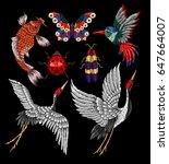 ladybug  butterfly  beetle ...   Shutterstock .eps vector #647664007