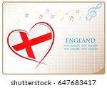 heart logo made from the flag...   Shutterstock .eps vector #647683417