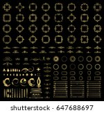 circle and square wicker... | Shutterstock . vector #647688697