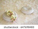 thai style jasmine garland on... | Shutterstock . vector #647698483