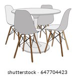table and chairs | Shutterstock . vector #647704423