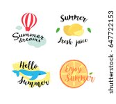 summer labels  logos  hand...