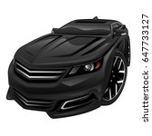big modern late model full size ... | Shutterstock .eps vector #647733127