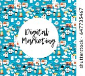digital marketing abstract...