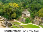 aerial view of the mayan temple ... | Shutterstock . vector #647747563