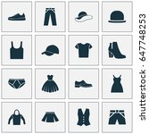 garment icons set. collection... | Shutterstock .eps vector #647748253