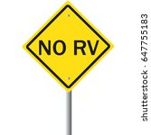 no rv. warning road sign for no ... | Shutterstock .eps vector #647755183