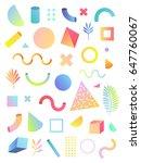 vector set illustration. white... | Shutterstock .eps vector #647760067