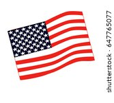 american flag vector...   Shutterstock .eps vector #647765077