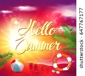summer | Shutterstock .eps vector #647767177