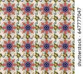 vector vintage pattern. mandala ... | Shutterstock .eps vector #647777047