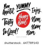 the cooking lettering designs... | Shutterstock .eps vector #647789143