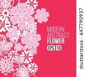 modern abstract flowers for... | Shutterstock .eps vector #647790937