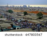 slum in angola  africa. capital ... | Shutterstock . vector #647803567