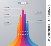 bar chart infographic template... | Shutterstock .eps vector #647808277