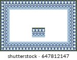 border or frame of abstract... | Shutterstock . vector #647812147