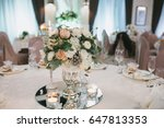 beautifully decorated wedding... | Shutterstock . vector #647813353