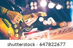 live music background in... | Shutterstock . vector #647822677